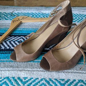 Vintage Tan Leather Wedges | Ann Taylor Sz 7